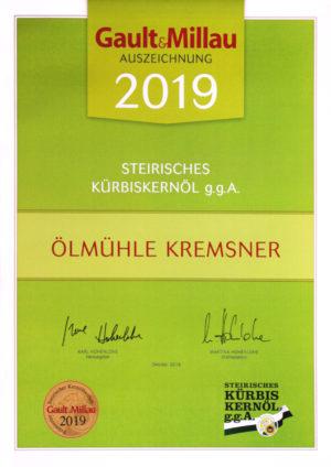 gault millau auszeichnung 2019 kremsner