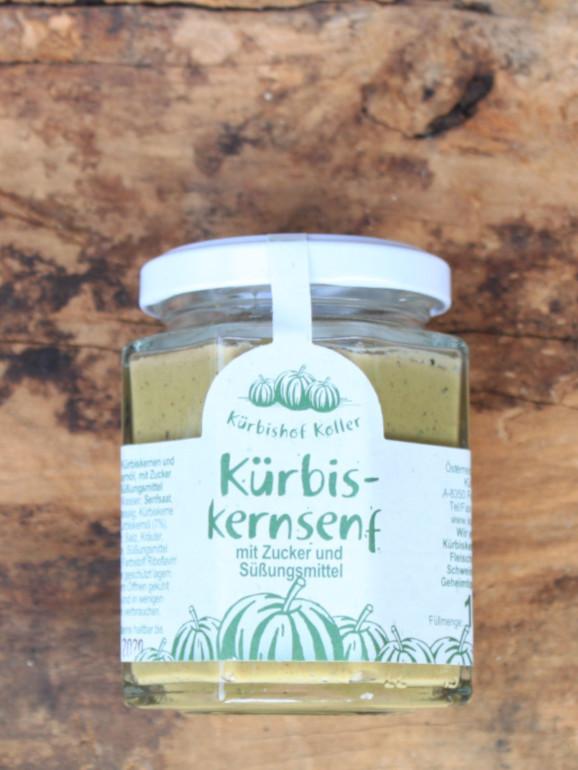 Kürbiskern Senf Glas Kremsner